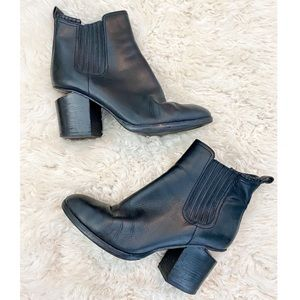 Alexander Wang Black Leather Rose Gold Ankle Boot